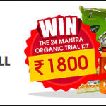 Free Sample worth Rs. 190 + Lucky users gets 1800 Rs. Trial Kit from 24Mantra