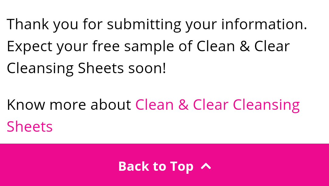 [ Free Sample ] Clean & Clear Cleansing Sheets