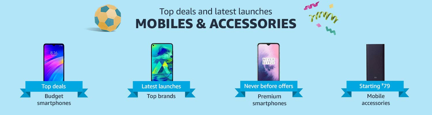 Top Deals on Latest Mobiles at amazon