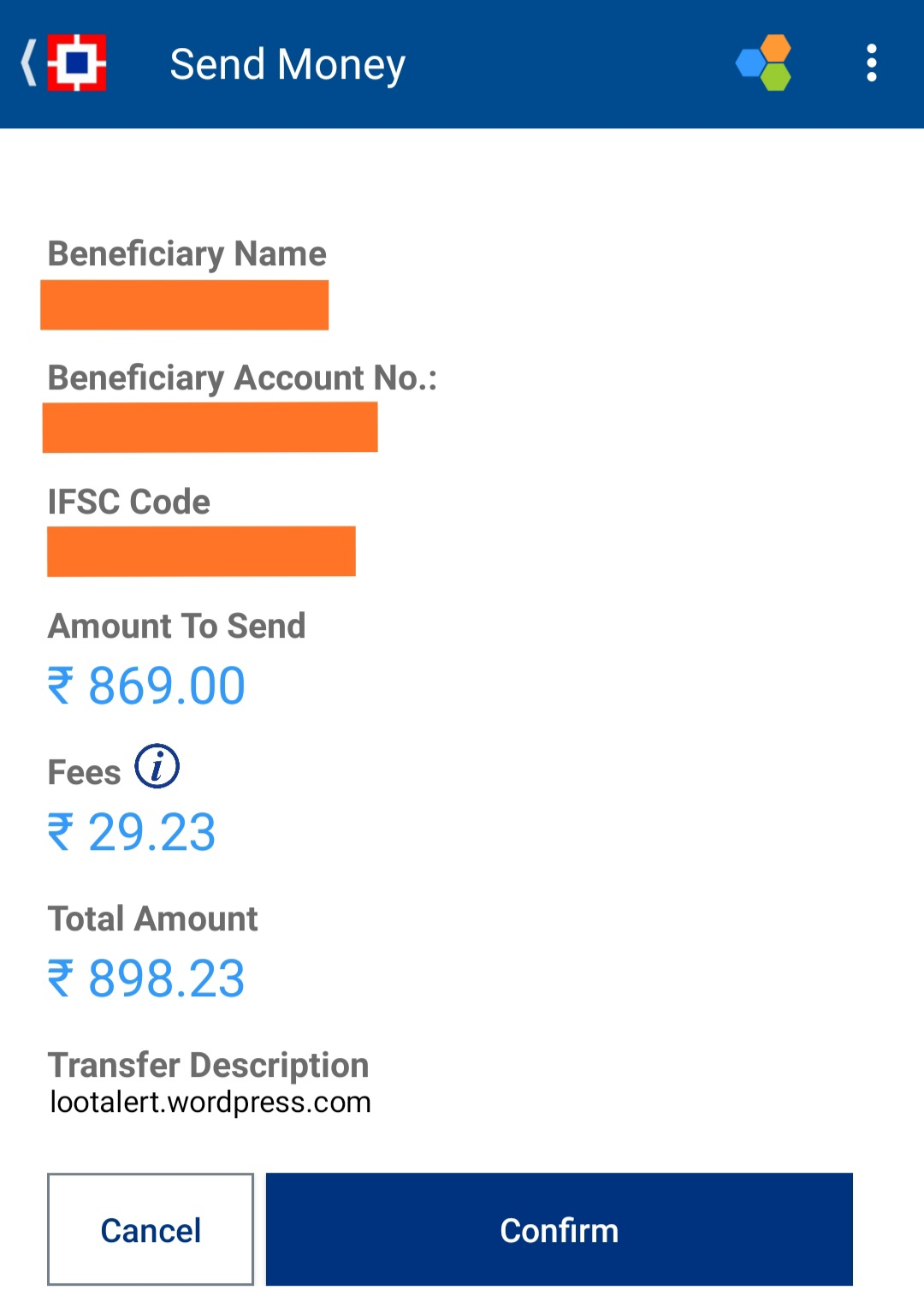 How to transfer money from HDFC PayZapp Wallet to Bank
