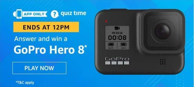 Amazon Quiz 29 May 2020 Answers Win-GoPro Hero 8