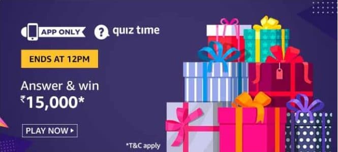 Amazon Quiz 6 July 2020 Answers Win-Rs.15,000