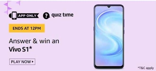 Amazon Quiz 24 May 2020 Answers Win-Vivo S1