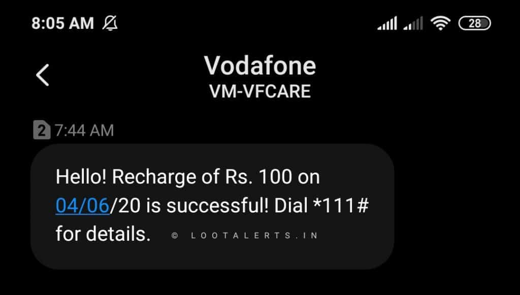 [ BUG ] Dent App Loot - Vodafone Users Get 100Rs. Recharge at Dent App